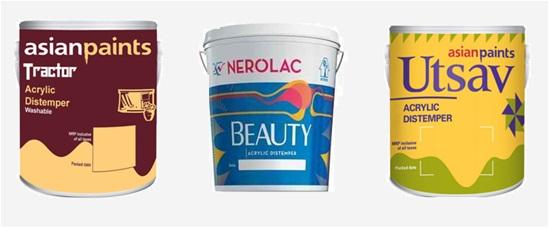 Acrylic Distemper , Types Of Interior Paints