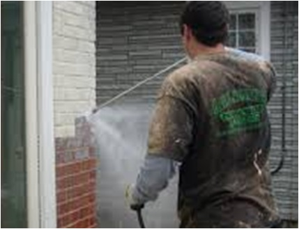 Exterior Paint Removal by Pressure Washer