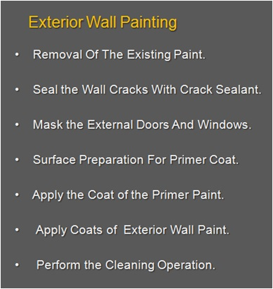How To Paint Exterior Walls, Exterior Wall Paint Work Process