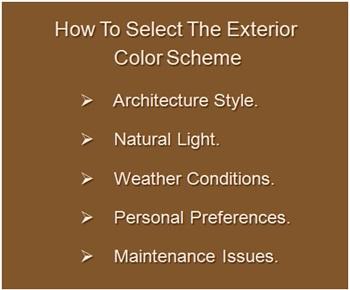 How To Paint Exterior Walls, Factors To Select Exterior Color Scheme