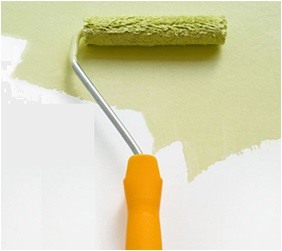 Interior Paint By Roller Brush