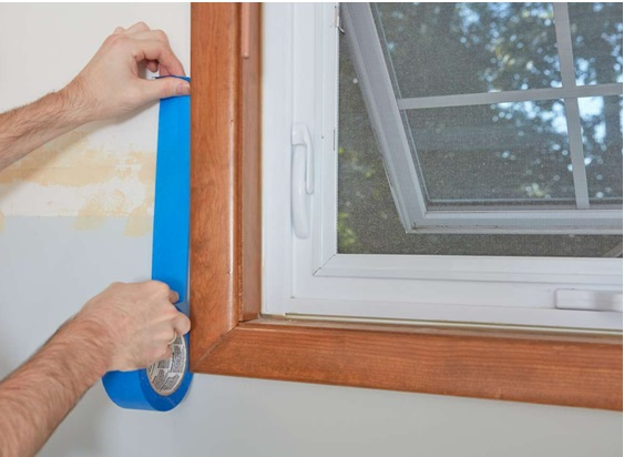 Masking The Windows , How To Paint Interior Wall