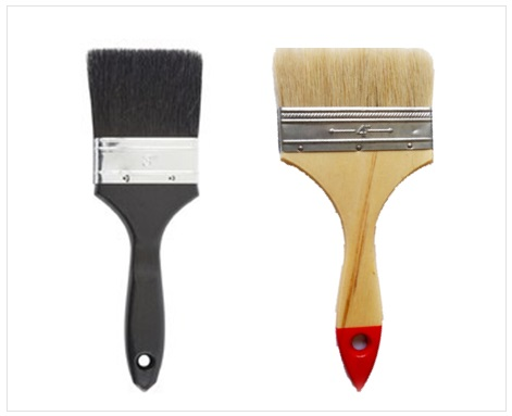 Natural Bristle Brush , Types Of Wall Paint Brushes