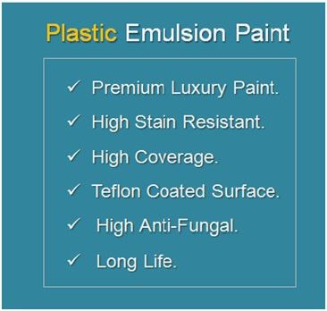 Plastic Emulsion Paint Features