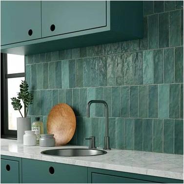 Glazed Wall Tiles In Kitchen Splash back