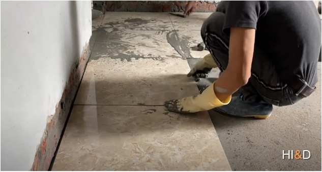 How To Install Ceramic Tiles With Cement On Mortar Bed