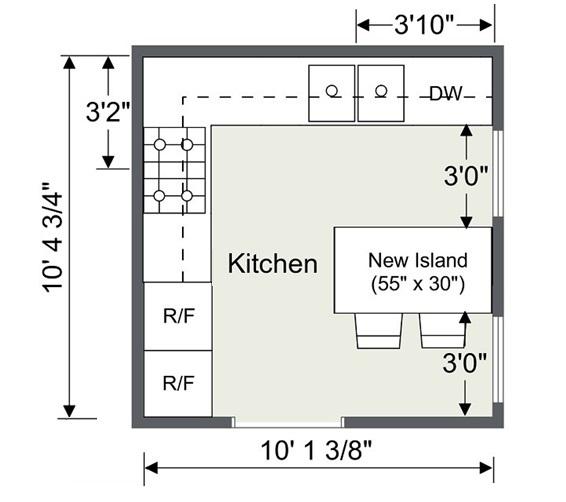 Kitchen Remodel Plan Drawing