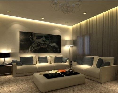 Layered Lighting In Home Interior
